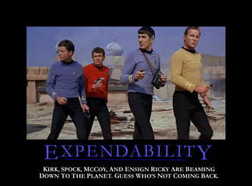 Expendability - motivational poster