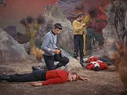 stare trek - red shirts down
