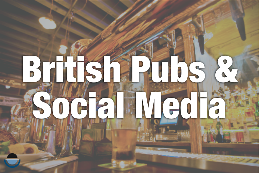 social media just like being at the pub