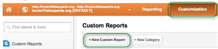 Creat New Custom Report Google Analytics
