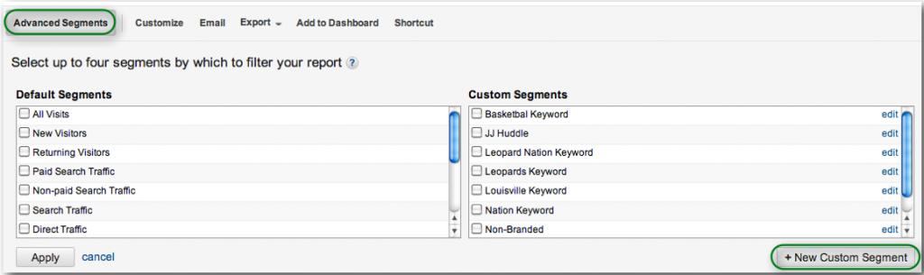 How to Create a New Custom Segment in Analytics